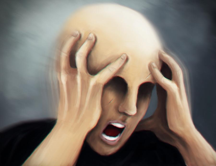 man with anxiety attack